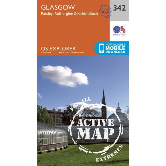 Active Explorer Map 342 Glasgow