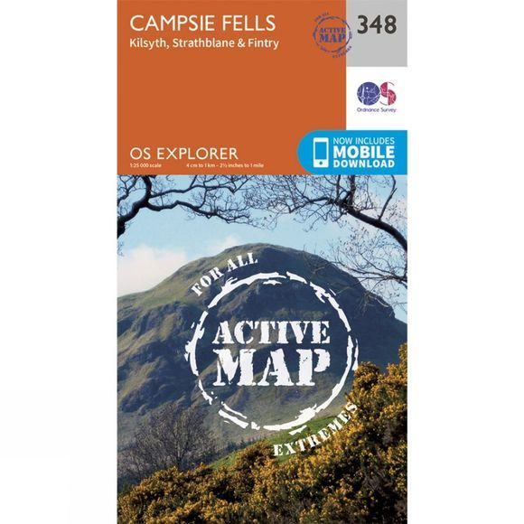 Ordnance Survey Active Explorer Map 348 Campsie Fells V15