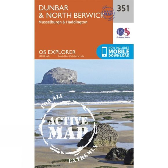 Active Explorer Map 351 Dunbar and North Berwick