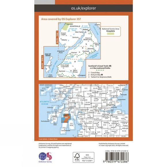 Active Explorer Map 357 Kintyre North