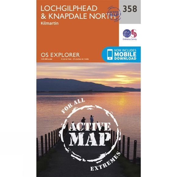 Active Explorer Map 358 Lochgilphead and Knapdale North