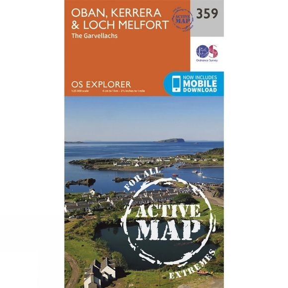 Ordnance Survey Active Explorer Map 359 Oban, Kerrera and Loch Melfort V15