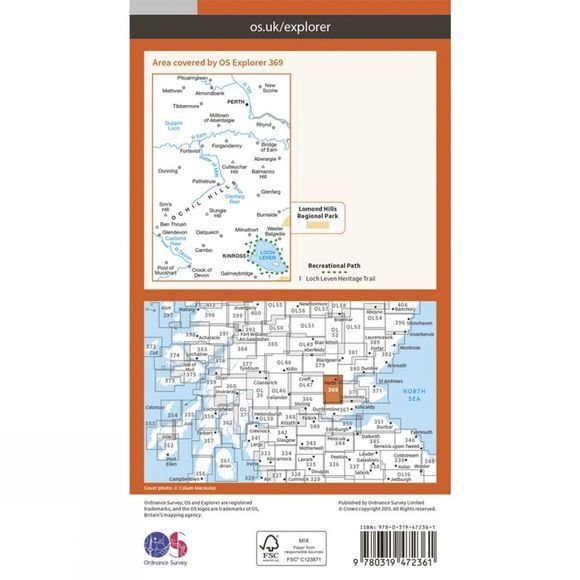 Ordnance Survey Active Explorer Map 369 Perth and Kinross V15