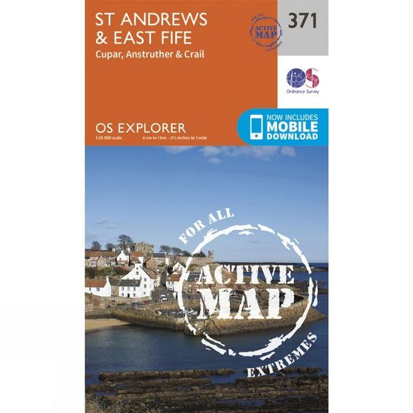 Ordnance Survey Active Explorer Map 371 St Andrews and East Fife V15