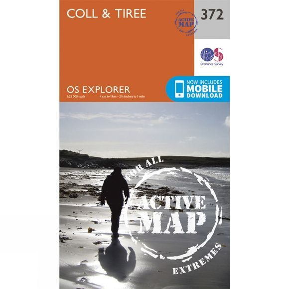 Ordnance Survey Active Explorer Map 372 Coll and Tiree V15