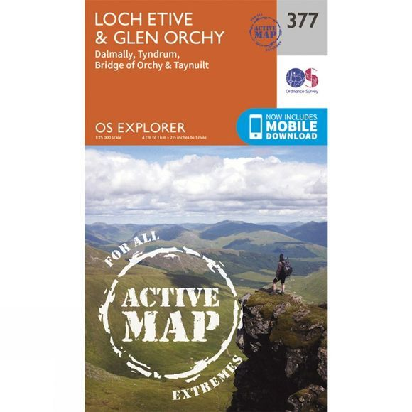 Active Explorer Map 377 Loch Etive and Glen Orchy