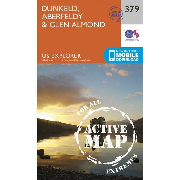 Ordnance Survey Active Explorer Map 379 Dunkeld, Aberfeldy and Glen Almond V15