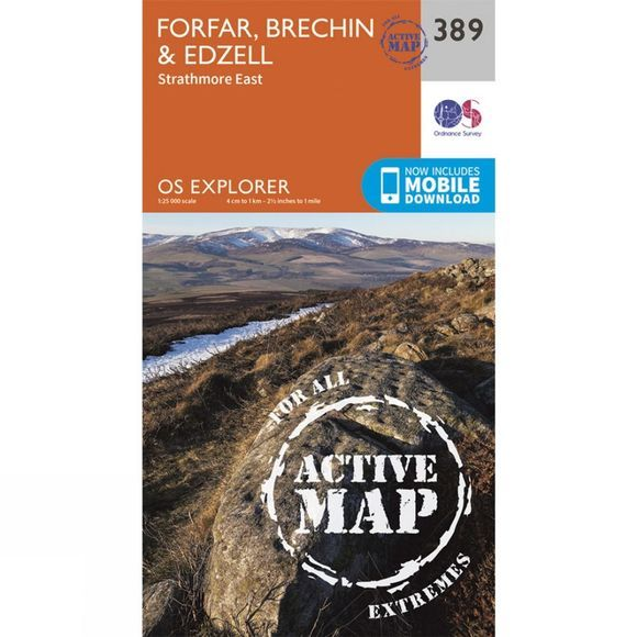 Active Explorer Map 389 Forfar, Brechin and Edzell