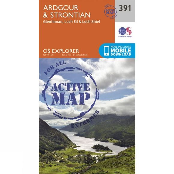 Active Explorer Map 391 Ardgour and Strontian