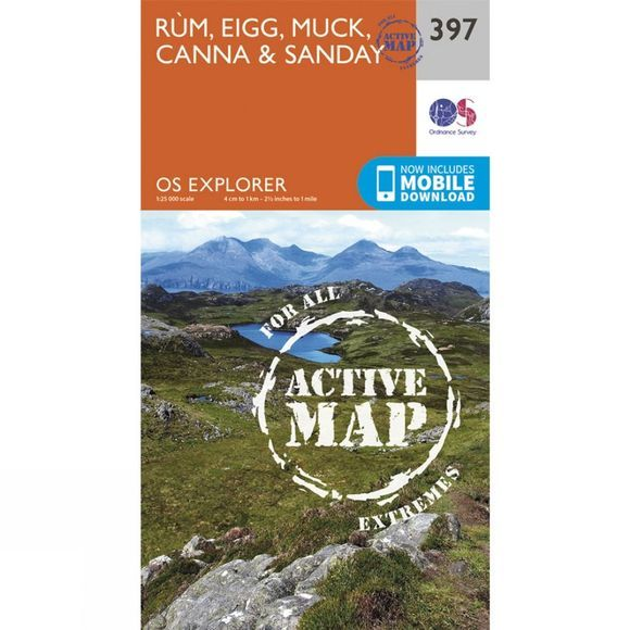 Active Explorer Map 397 Rum, Eigg, Muck, Canna and Sanday