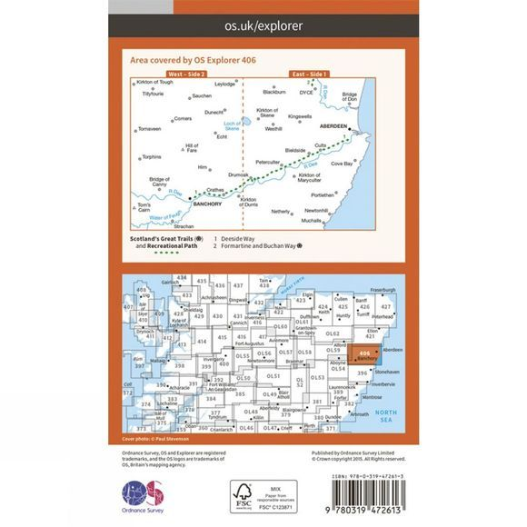 Active Explorer Map 406 Aberdeen and Banchory