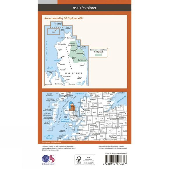 Active Explorer Map 408 Skye - Trotternish and The Storr