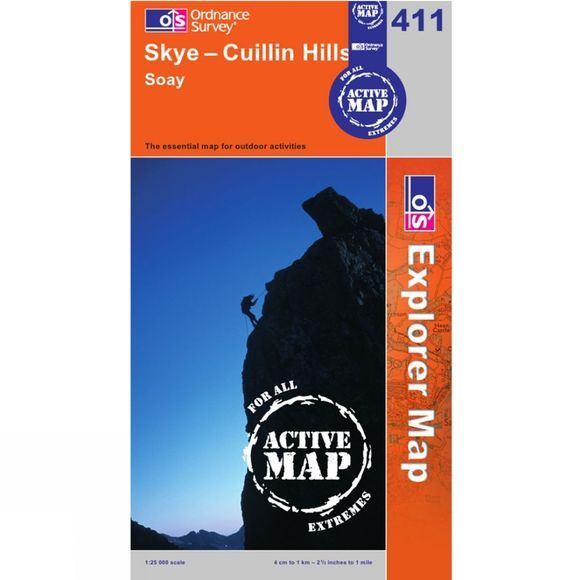 Ordnance Survey Active Explorer Map 411 Skye - Cuillin Hills .
