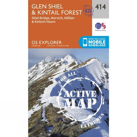 Active Explorer Map 414 Glen Shiel and Kintail Forest