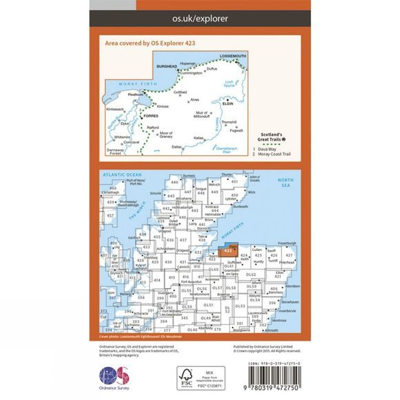 Active Explorer Map 423 Elgin, Forres and Lossiemouth