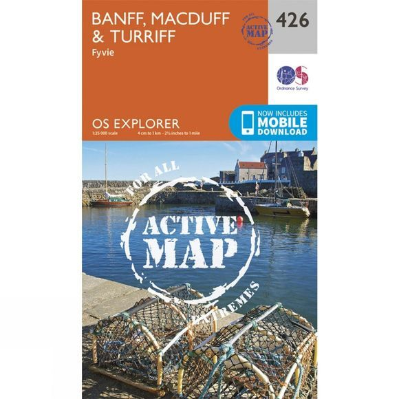 Active Explorer Map 426 Banff, Macduff and Turriff