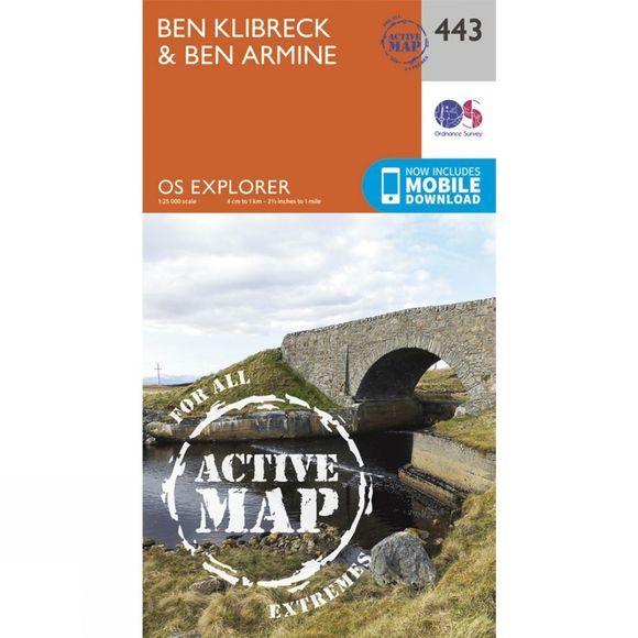 Active Explorer Map 443 Ben Klibreck and Ben Armine