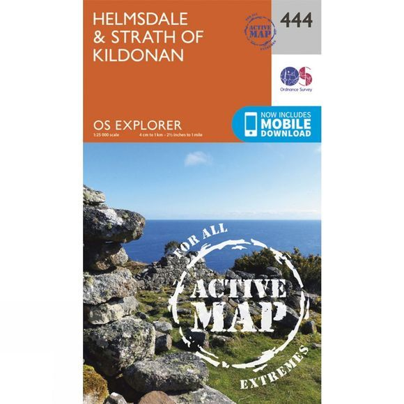 Ordnance Survey Active Explorer Map 444 Helmsdale and Strath of Kildonan V15