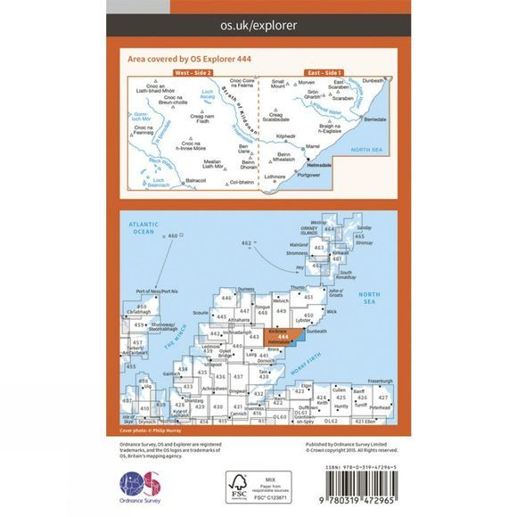 Active Explorer Map 444 Helmsdale and Strath of Kildonan