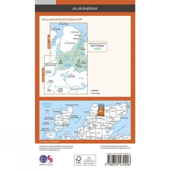 Active Explorer Map 447 Ben Hope, Ben Loyal and Kyle of Tongue