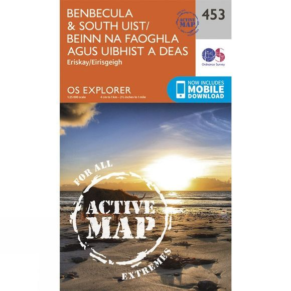 Active Explorer Map 453 Benbecula and South Uist