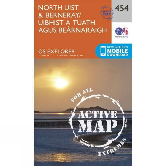 Ordnance Survey Active Explorer Map 454 North Uist and Berneray V15