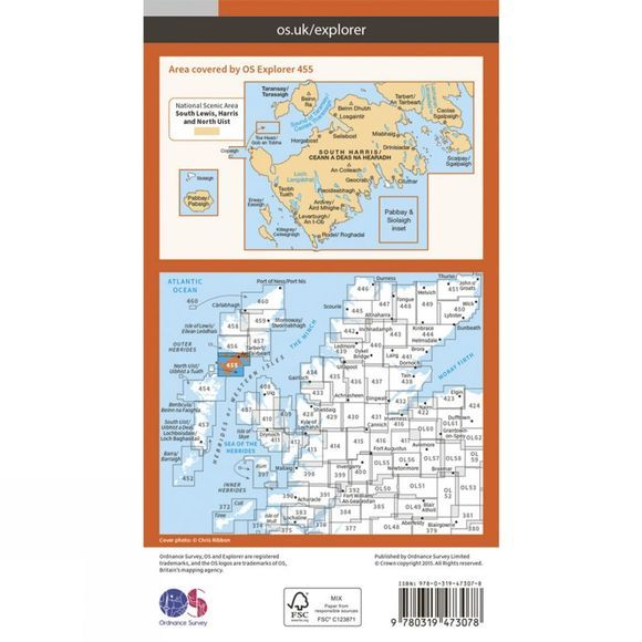 Active Explorer Map 455 South Harris