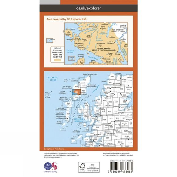 Active Explorer Map 456 North Harris and Loch Seaforth