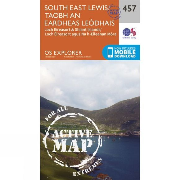 Ordnance Survey Active Explorer Map 457 South East Lewis V15