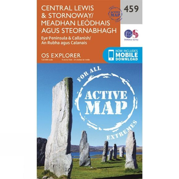 Ordnance Survey Active Explorer Map 459 Central Lewis and Stornoway V15