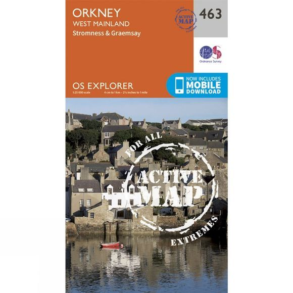 Ordnance Survey Active Explorer Map 463 Orkney - West Mainland V15
