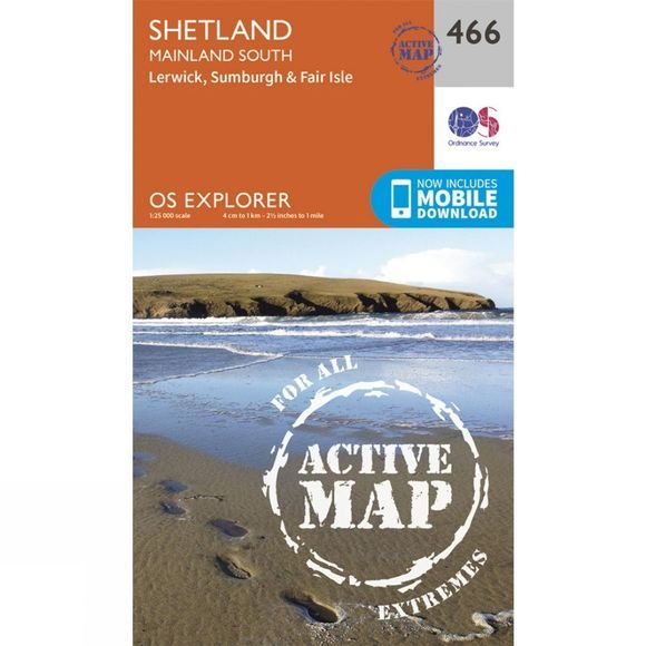 Active Explorer Map 466 Shetland - Mainland South