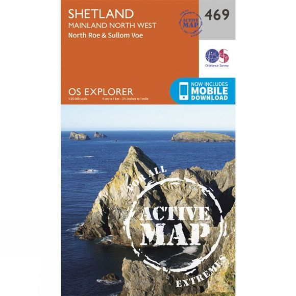 Active Explorer Map 469 Shetland - Mainland North West