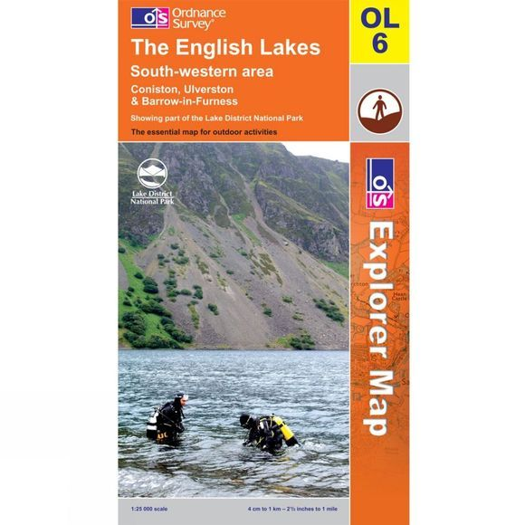 Ordnance Survey Active Explorer Map OL6 The Lake District - South-Western Area .