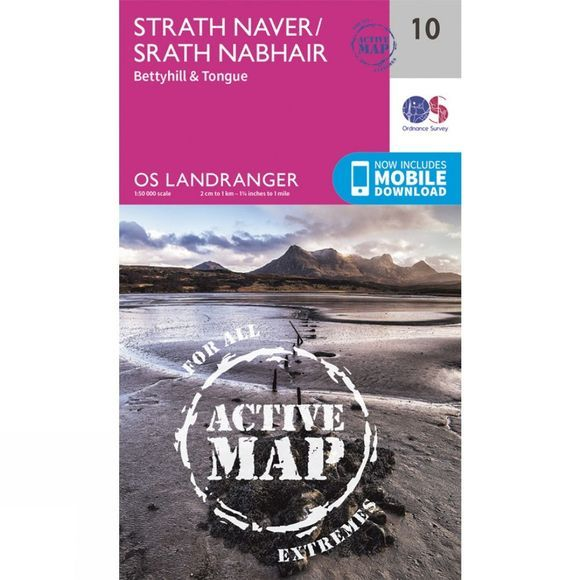 Ordnance Survey Active Landranger Map 10 Strath Naver V16