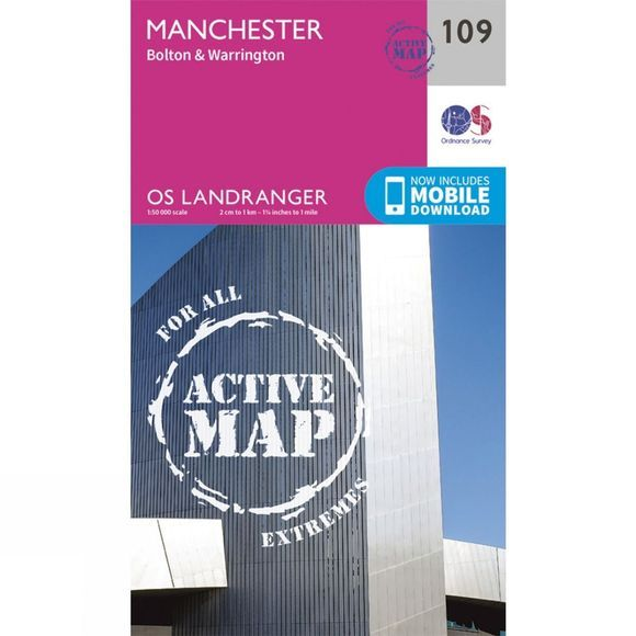 Active Landranger Map 109 Manchester