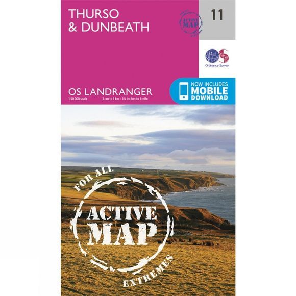 Active Landranger Map 11 Thurso and Dunbeath