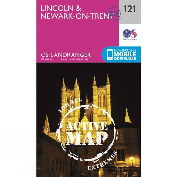 Active Landranger Map 121 Lincoln and Newark-on-Trent