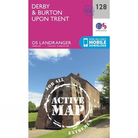 Active Landranger Map 128 Derby and Burton upon Trent