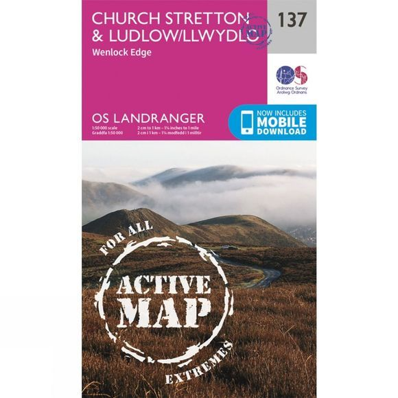 Active Landranger Map 137 Church Stretton and Ludlow