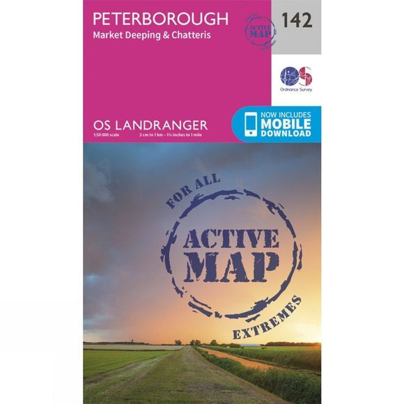 Active Landranger Map 142 Peterborough