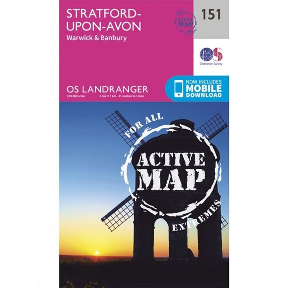 Active Landranger Map 151 Stratford-upon-Avon