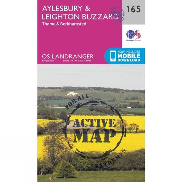 Active Landranger Map 165 Aylesbury and Leighton Buzzard