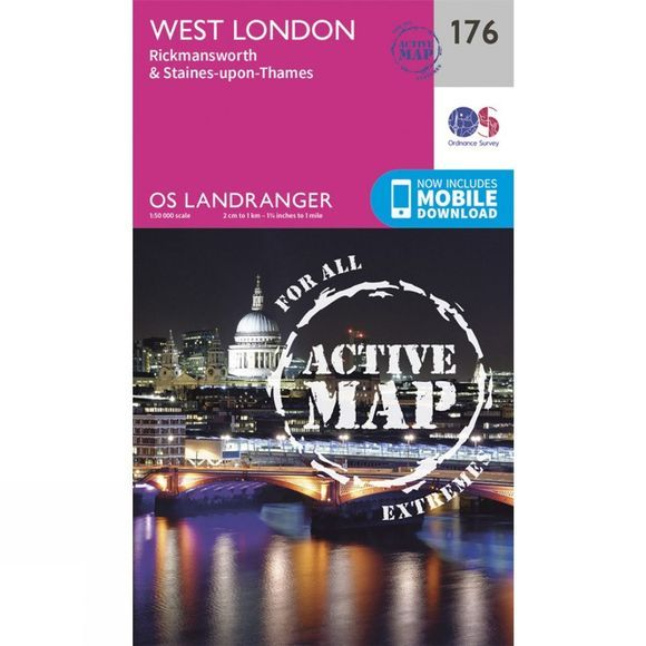 Active Landranger Map 176 London West