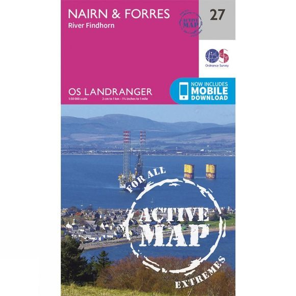 Active Landranger Map 27 Nairn and Forres