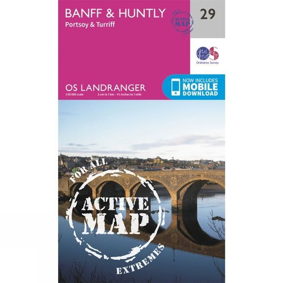Active Landranger Map 29 Banff and Huntly
