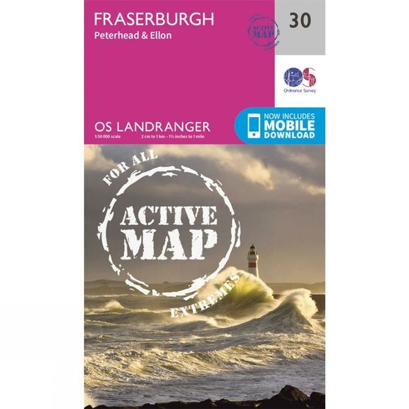 Active Landranger Map 30 Fraserburgh