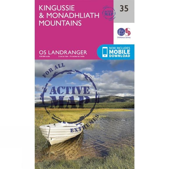 Active Landranger Map 35 Kingussie and Monadhliath Mountains