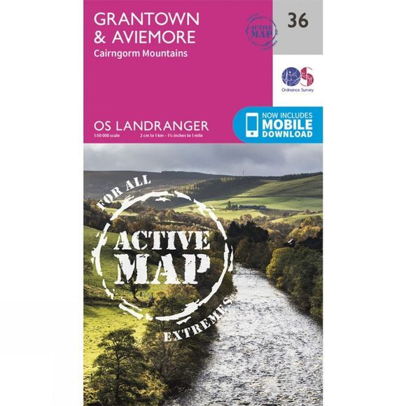 Active Landranger Map 36 Grantown and Aviemore