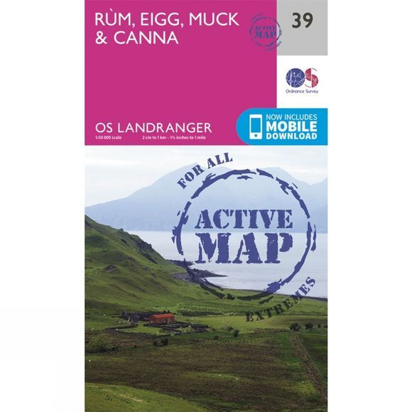 Active Landranger Map 39 Rum, Eigg, Muck and Canna